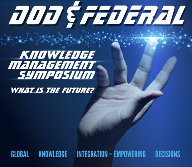 Flyer for DoD & Federal KM Symposium